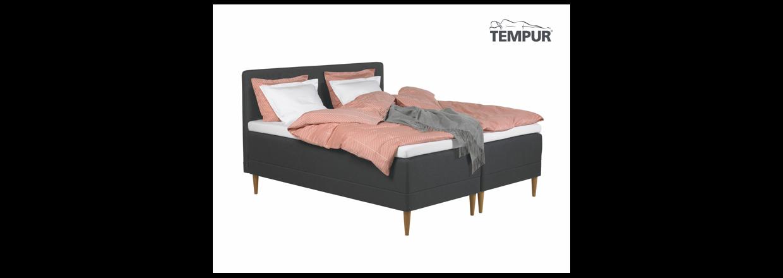 <strong>TEMPUR Promise Hybrid Box 180x200 cm. incl. topmadras.<br><s>F&oslash;r 29999,-</s>&nbsp;&nbsp; Nu 16999,-</strong>