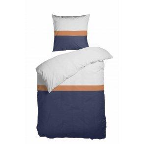 42cb365985d Sengetøj Intro blue satin 140x220 + pudebetræk 63x60 fra Nordisk Tekstil
