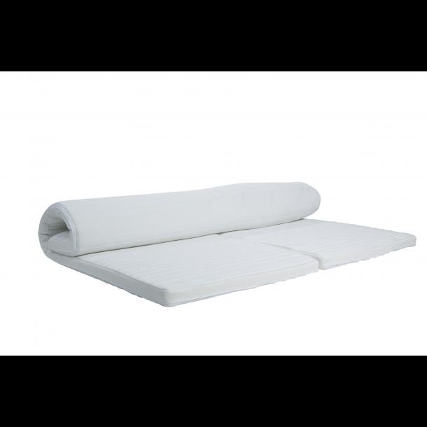 Dunlopillo Natura White Duo topmadras 8 cm. høj med naturlatex og Clima