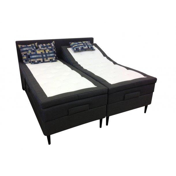 Bed Exclusive elevationsseng 180x200 cm. med latexpolstring og ekstra faste madrasser