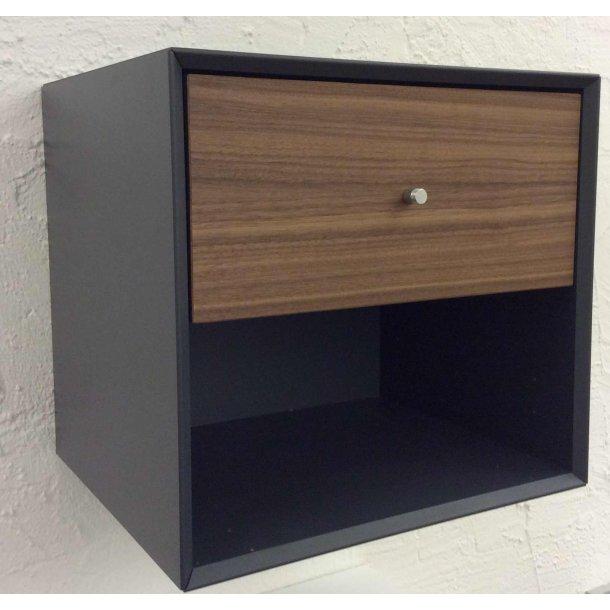 Sengebord Box med 1 skuffe og 1 hylde til vægophæng