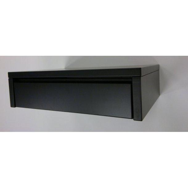 Sengebord Monica sortmalet væghængt med 1 skuffe. (udstillingsbord)