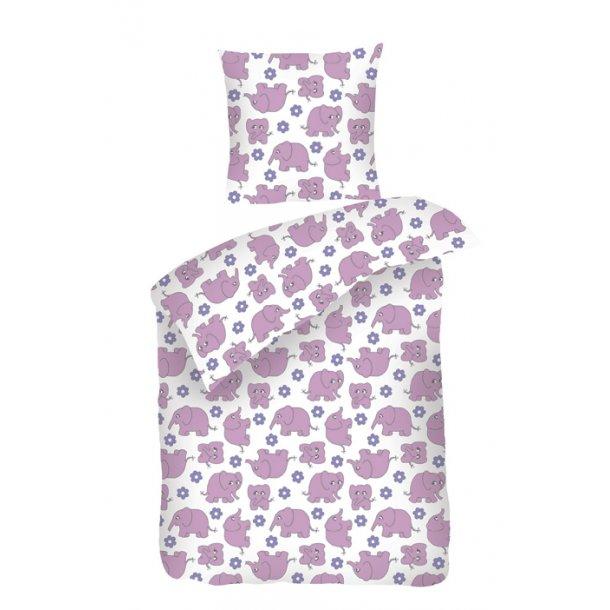 Sengetøj Sove Trine rosa percale 100x140 + pudebetræk 45x40 fra Night & Day